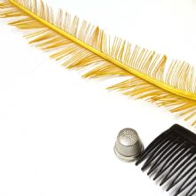 Long Cut Mustard Yellow Ostrich Feather